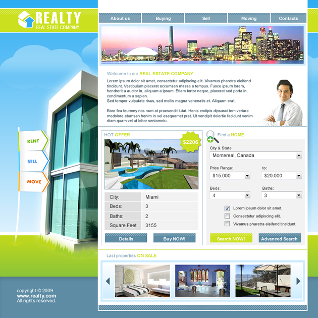 Real Estate Dreamweaver Template
